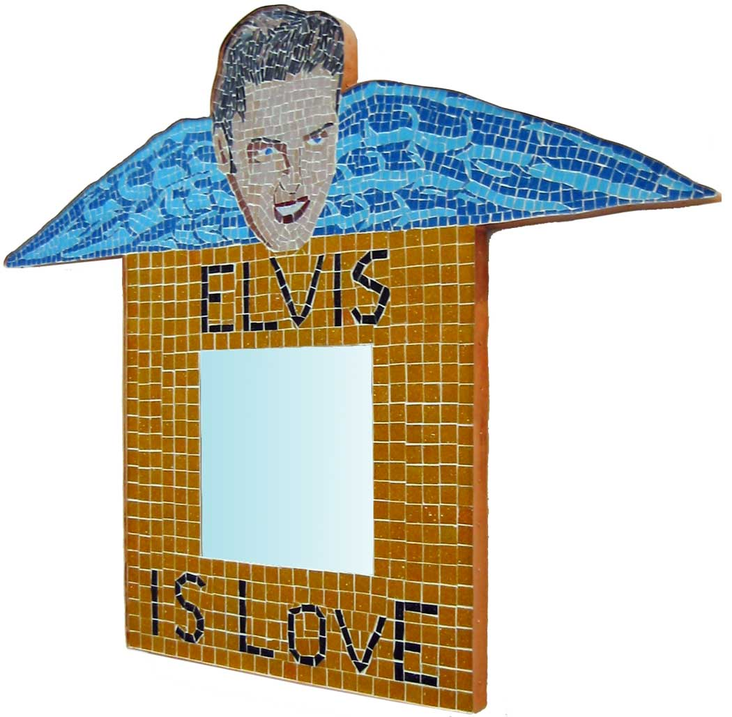 Elvis Is Love glass Mosaic Mirror