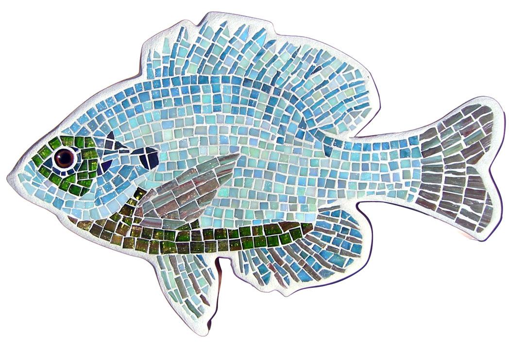 glass mosaic fish