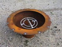 custom Fire pit with gas burner