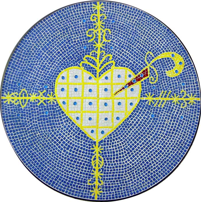 Vévé for Erzuli Mosaic Table, 2003