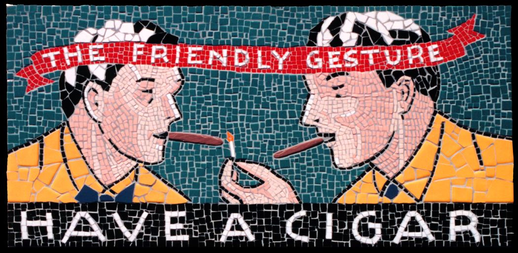 The Friendly Gesture, 1999 Ceramic and stone mosaic table