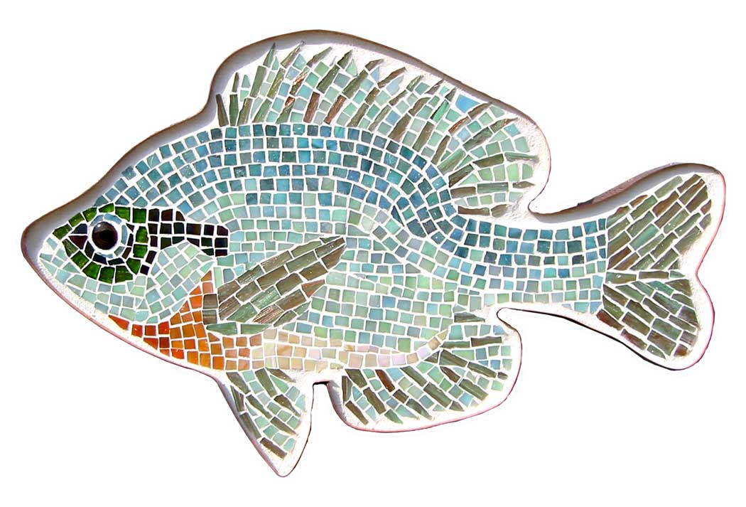 glass mosaic bluegill