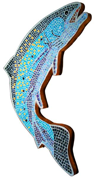 Rainbow Trout Glass Mosaic