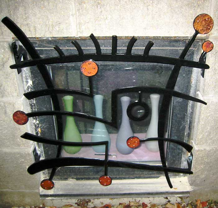 Modern Abstract security grate