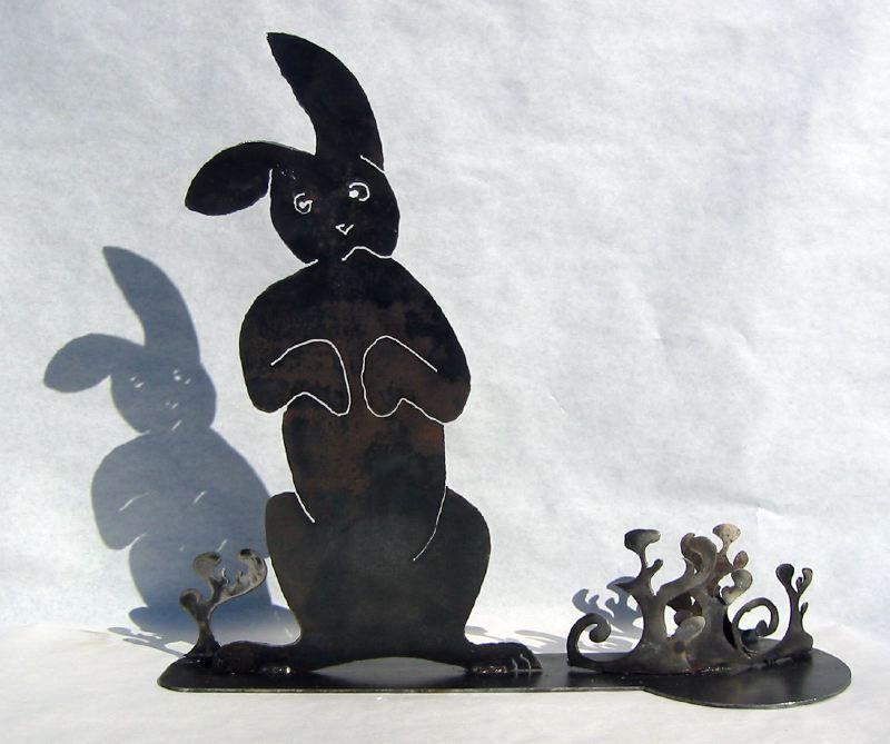 Sad Bunny Sculpture