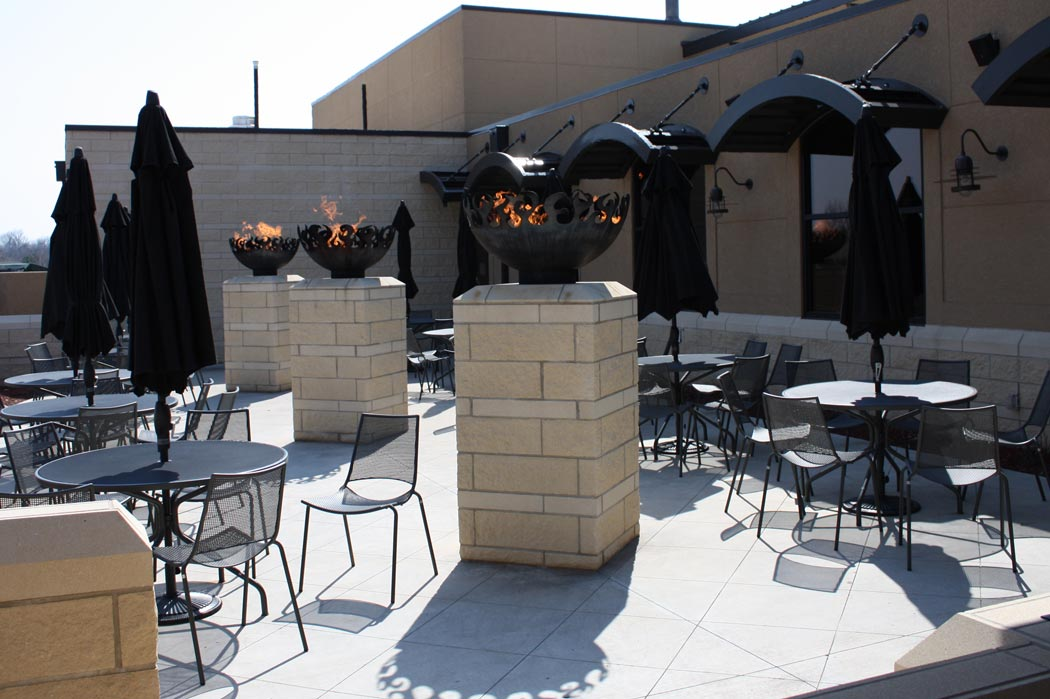 Great Bowl O' Fire 37 Inch Sculptural Firebowl™ at Brick Oven Courtyard Grille Topeka, KS