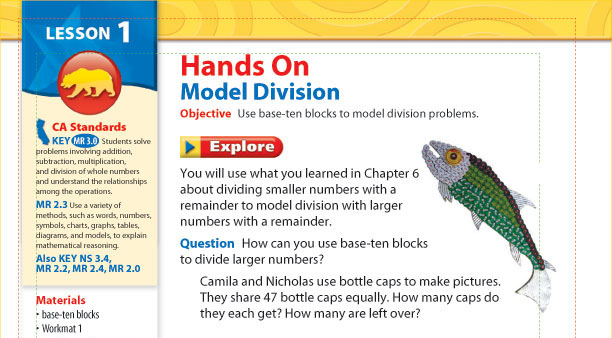math book with bottlecap fish art