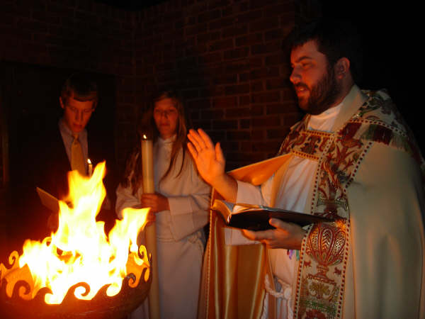 sculptural Firebowl for Easter Vigil