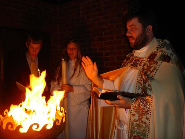 sculptural Firebowl for Easter Vigil