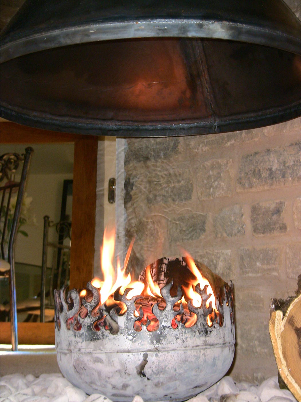 the blaze o glory brazier as a fireplace insert defines hearth and