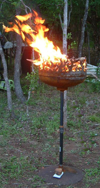 Blaze O Glory Brazier with raging fire