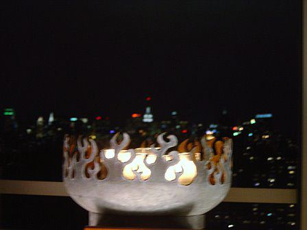 Firebird Grill with NYC skyline