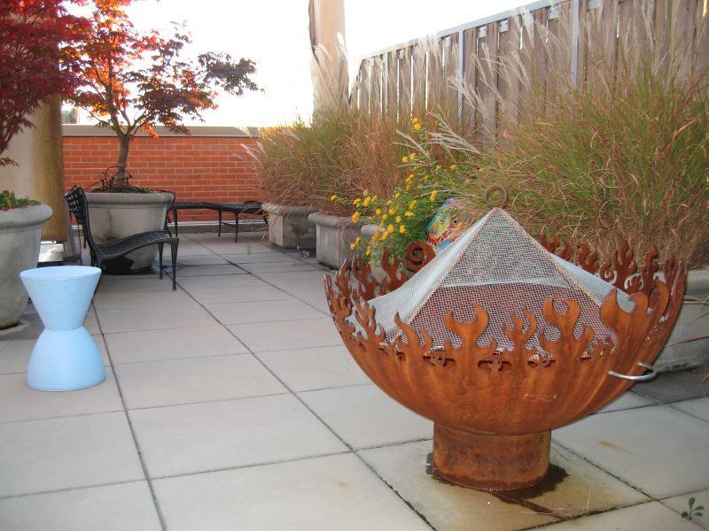 roof garden firebowl NYC skyline