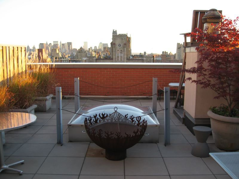 Great Bowl O Fire on manhattan rooftop garden