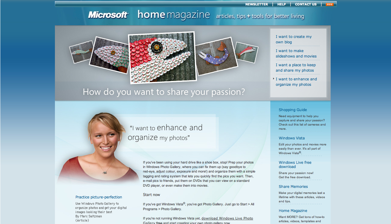 Bottle Cap Mosaics in Microsoft Home Magazine