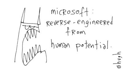microsoft reverse engineered from human potential