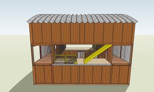 North Elevation of Container Studio
