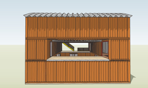 South Elevation of Container Studio