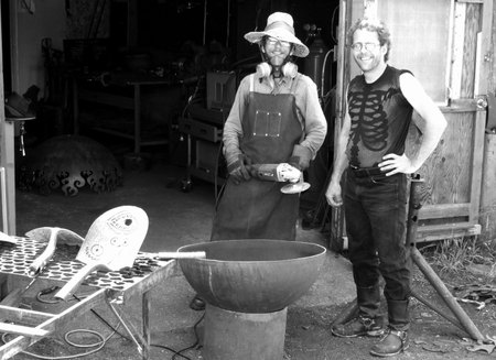 John T. Unger and assistant Kurt VanDusen at the metal workshop on M 66