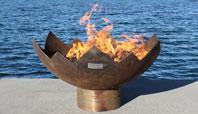 The Great Flaming Lotus Sculptural Firebowl
