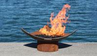 Isosceles Modern Sculptural Firebowl
