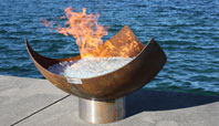 The King Isosceles Sculptural Firebowl