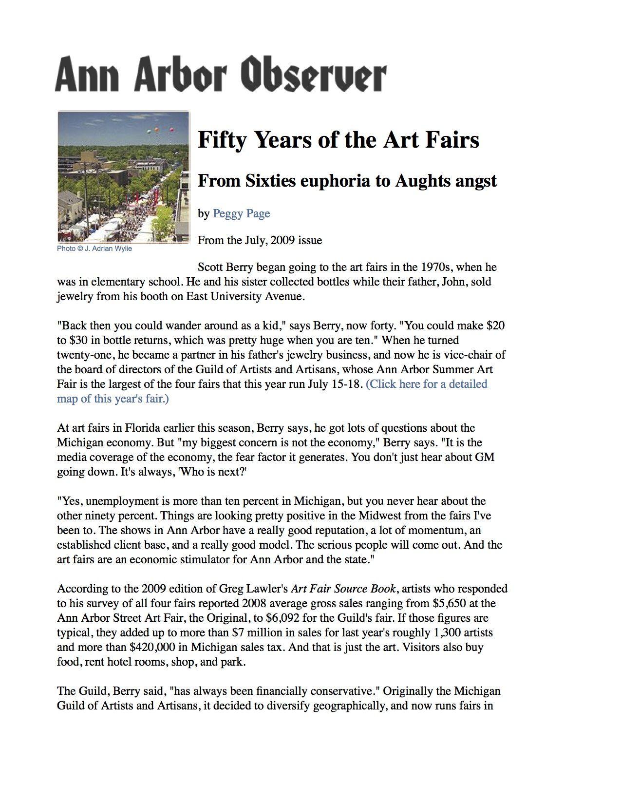 Fifty Years of the Art Fairs - Ann Arbor Observer