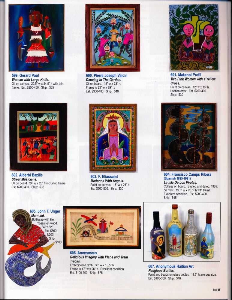 Auction Catalog: Fall Masterpiece Auction, Presenting the Lynne Ingram Collection. Buford, GA: Slotin Folk Art Auction, 2009