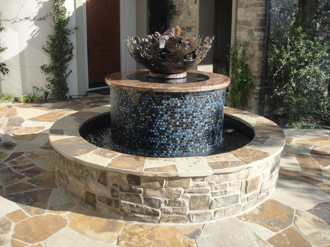 Great Bowl O' Fire with Masonry Fountain