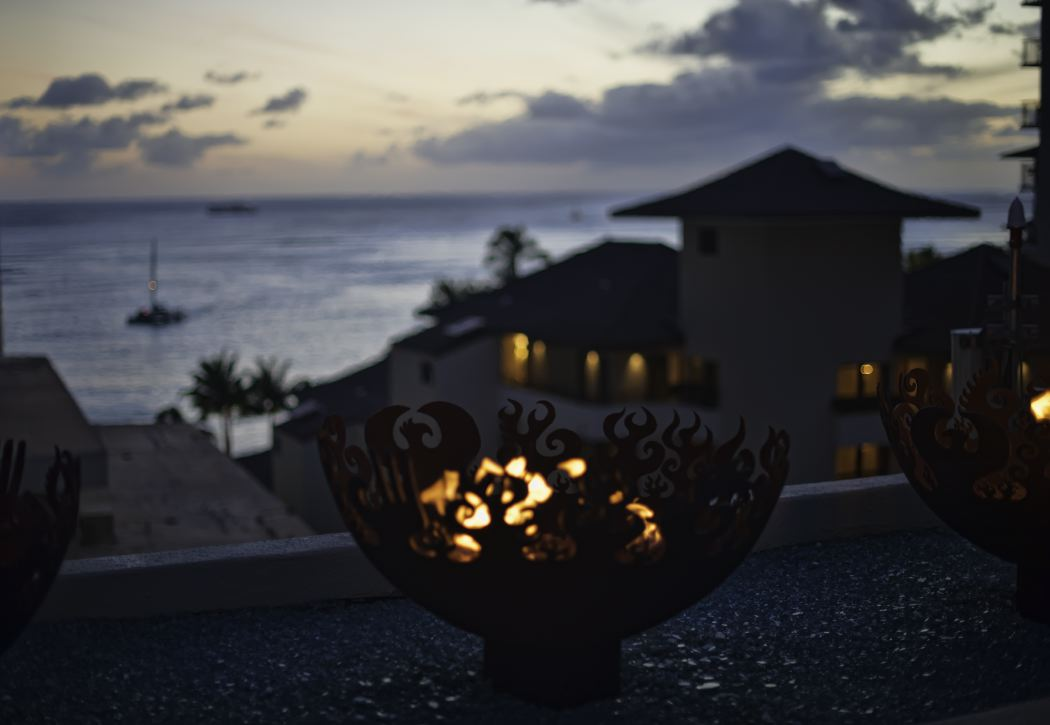 Great Bowl O' Fire 37 Inch Sculptural Firebowls™ at The Parc Hotel, Honolulu, HI