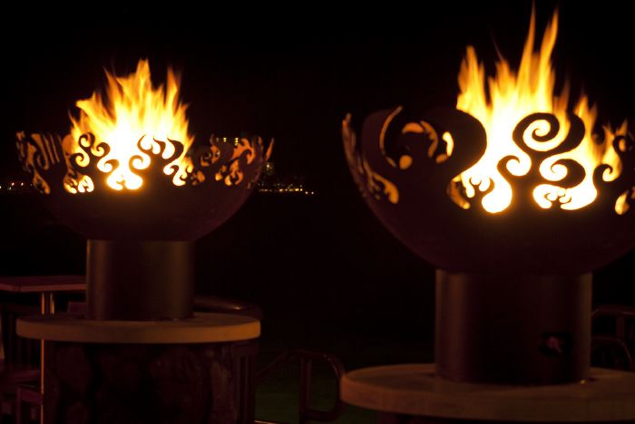 Great Bowl O' Fire 37 Inch Sculptural Firebowls™ at Rumfire, Sheraton Waikiki, Honolulu, HI