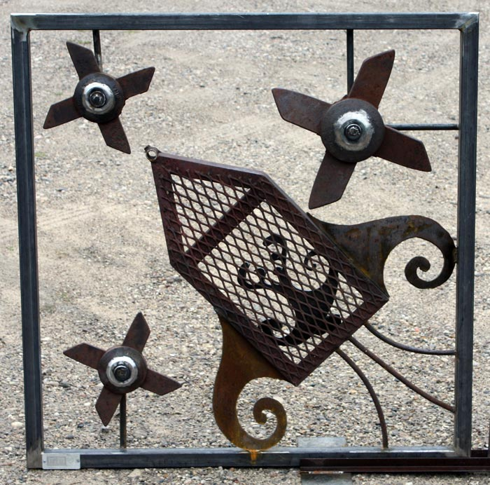 Kinetic Sculpture Security Grates for Texas Comission