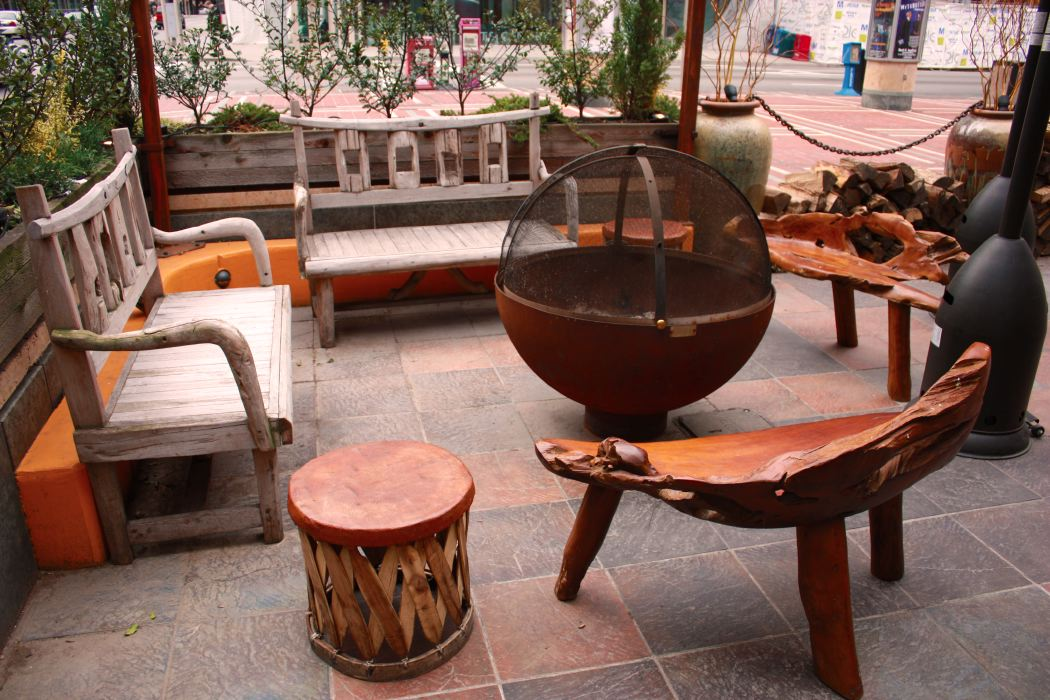 Nada restaurant patio firebowl