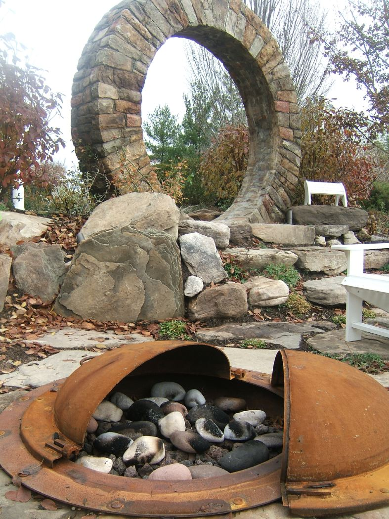Custom in-ground fire pit