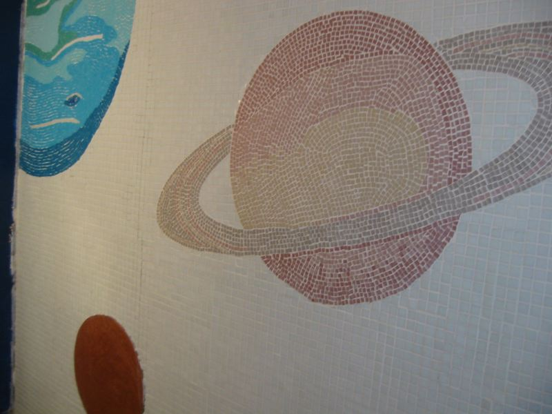Solar system mosaic in progress