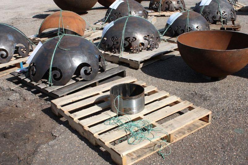 How are John T Unger Sculptural Firebowls shipped?
