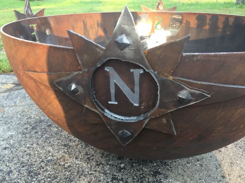 Compass Rose Sculptural Firebowl