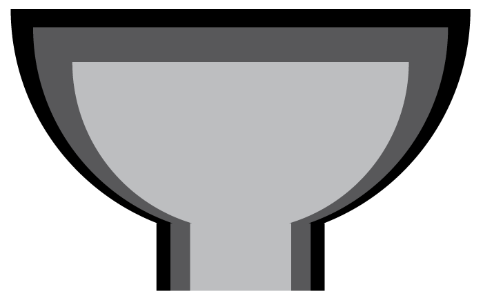 firebowl size chart showing nested bowls
