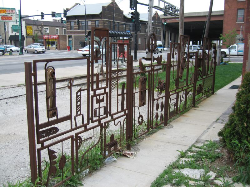 Scrap Iron Fence Part Two, Chicago, IL 2003