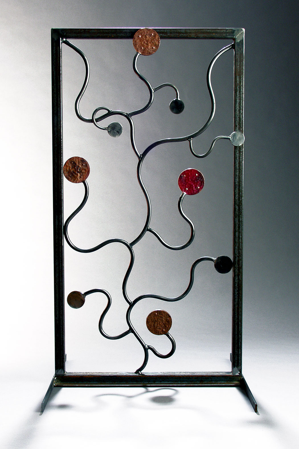 Bittersweet Vine Motif Steel and Copper Trellis, 2004