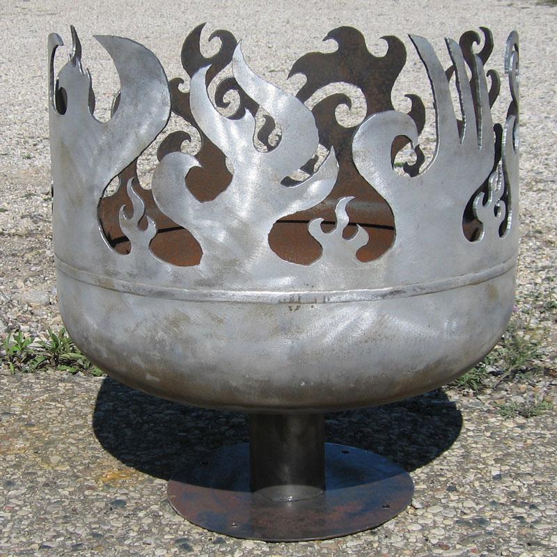 Custom fire chalice in steel
