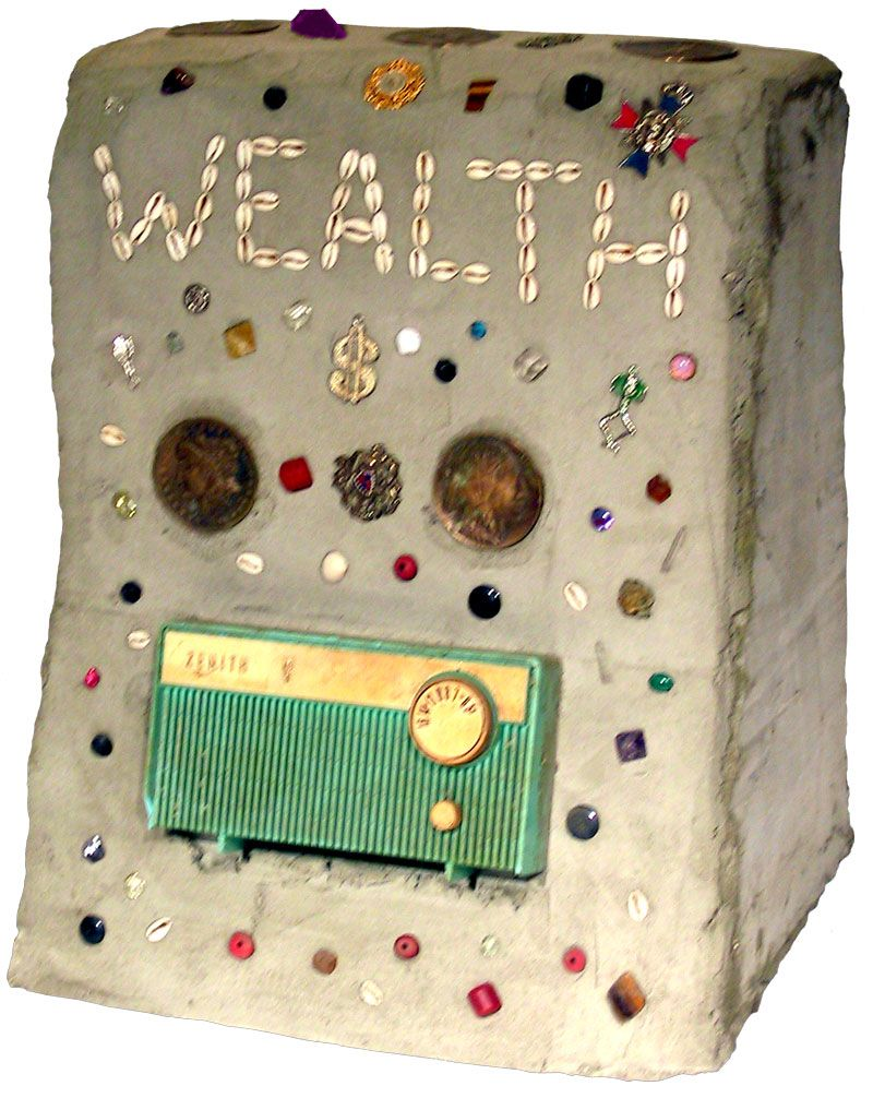 Radio Ancestrale Installation wealth gravestone