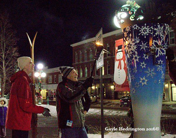 lighting the flame for Newport's 100th Winter Carnival
