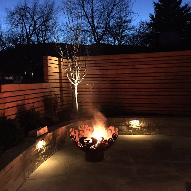 Custom Layered fire effect Firebowl