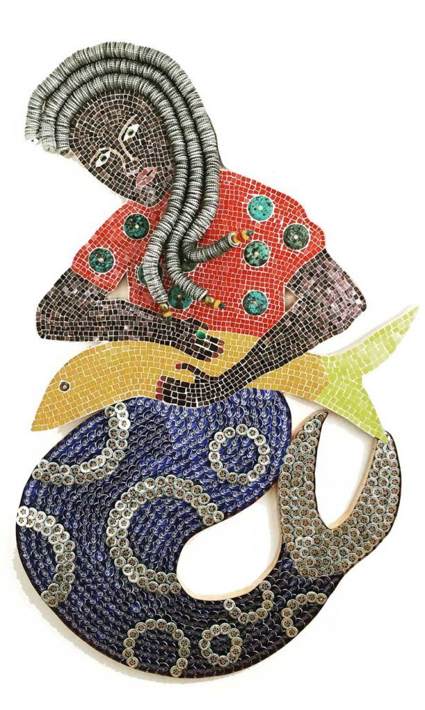 La Siren III, a Mosaic Comission for American Museum of Natural History