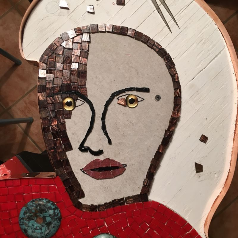 La Siren III Mosaic in progress