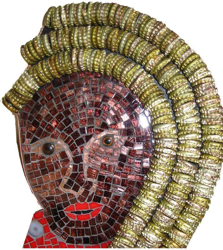 La Siren II Mosaic, Detail