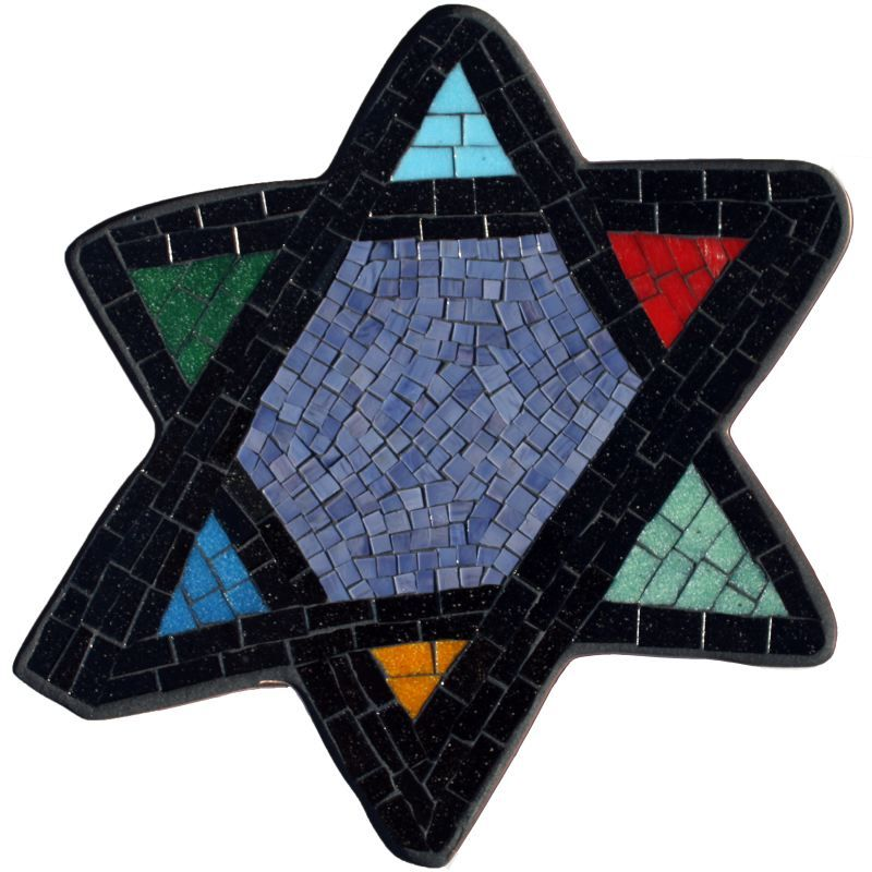 Magen David Mosaic for Congregation Kadima