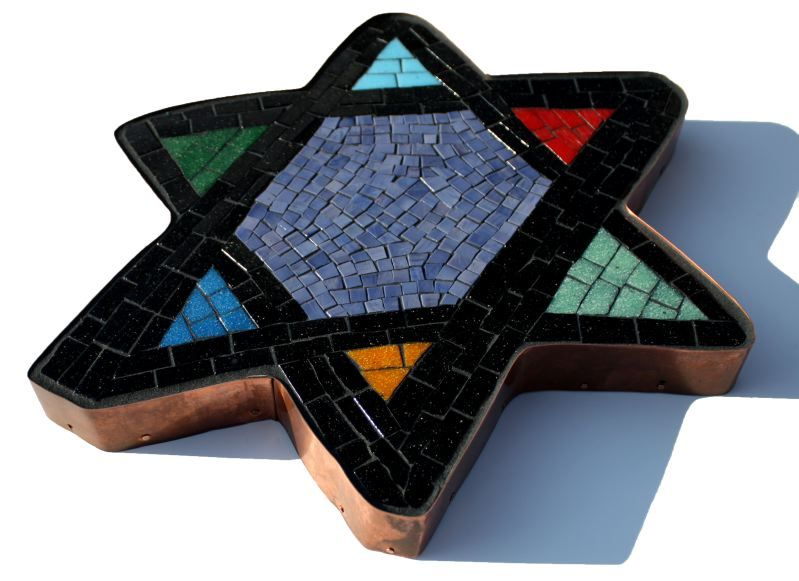 Star of David Mosaic for Congregation Kadima