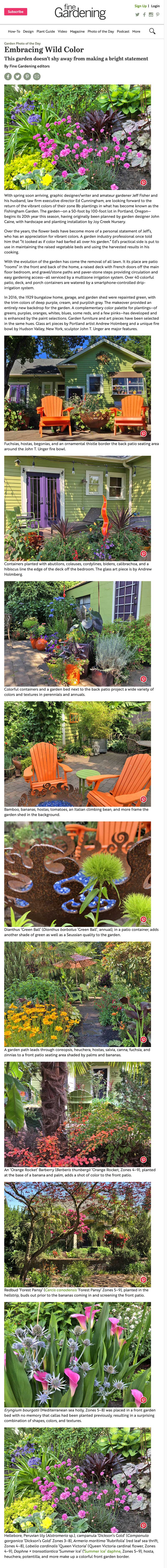 "Embracing Wild Color."" Fine Gardening Magazine, 7 Mar. 2019"
